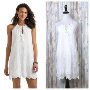 NEW Vineyard Vines 00 White Eyelet Halter Dress